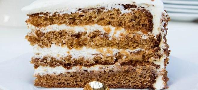 Торт медовый - простой рецепт