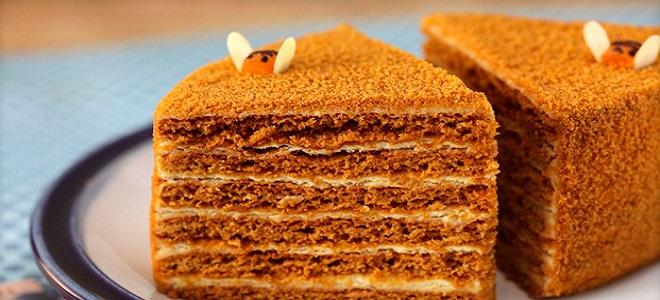 Торт Рыжик - медовый