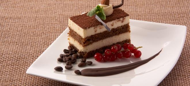 Тирамису торт с бисквитом