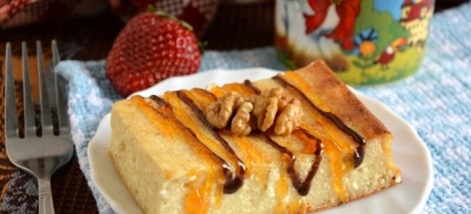 Творожная запеканка с бананом - рецепт в духовке