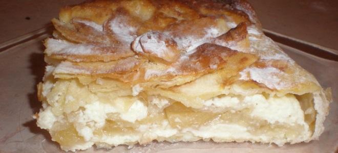 творожно-яблочный десерт из лаваша