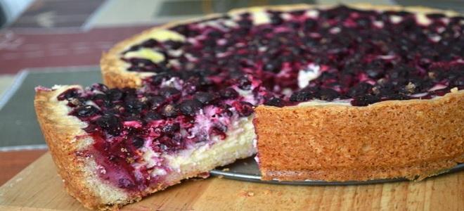 рецепт простого творожно ягодный пирог