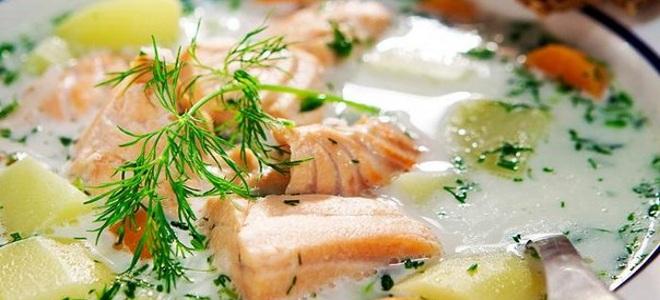 Финская уха со сливками рецепт с фото