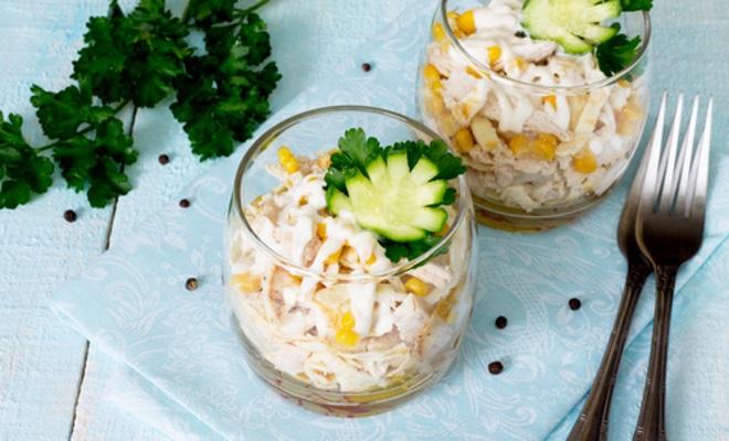 украшение порционных салатов на новый год
