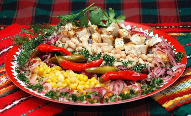 украшения для салата из фасоли 1