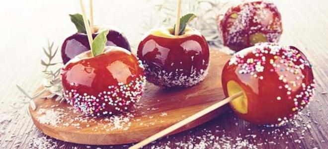 яблоки в красной карамели рецепт с фото