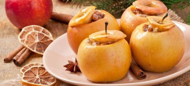 запеченные яблоки в духовке с медом и орехами рецепт с фото