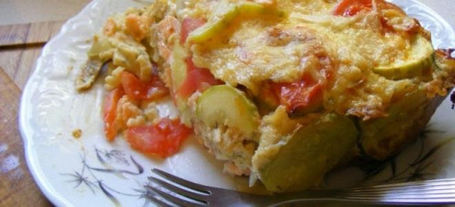 Запеканка из рыбы с овощами в духовке