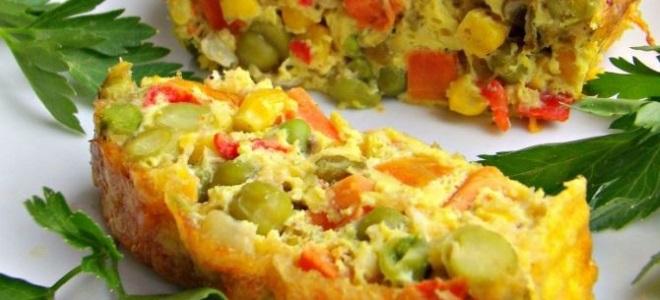 Запеканка из замороженных овощей в духовке