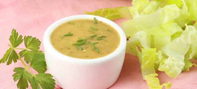 Соус для салатов рецепт с фото