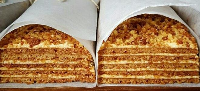 Заварной медовый торт