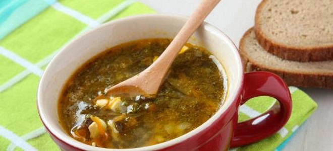 зеленый борщ с фасолью