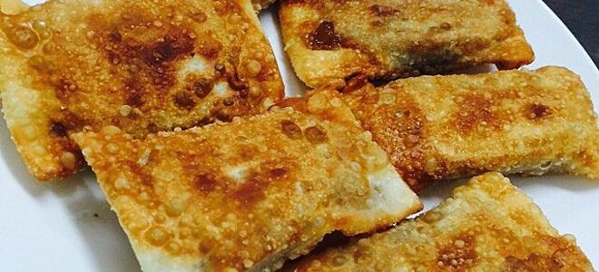 Рецепты пирожков из слоеного теста жареные