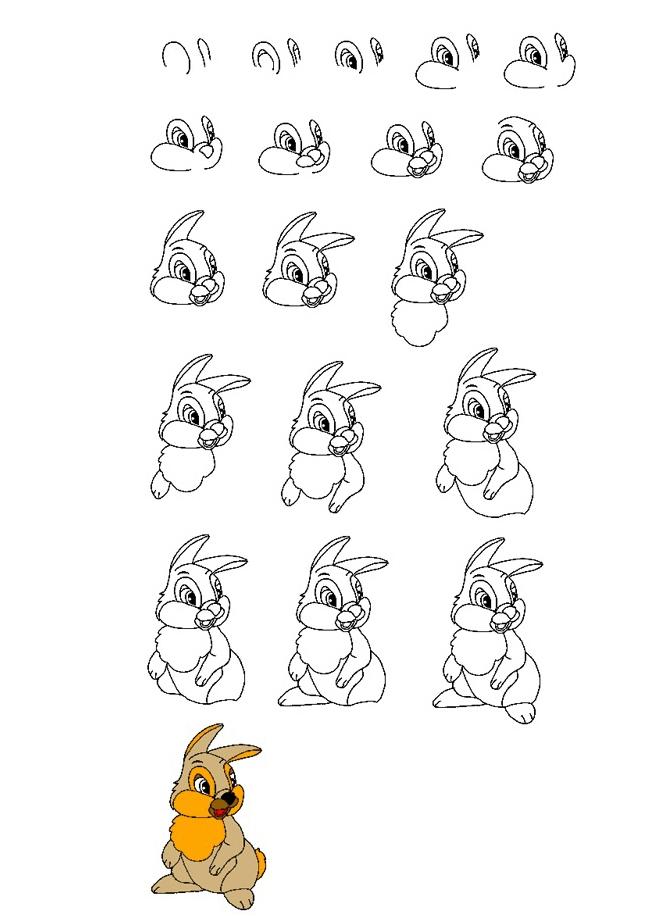 Рисунок зайца для девушки