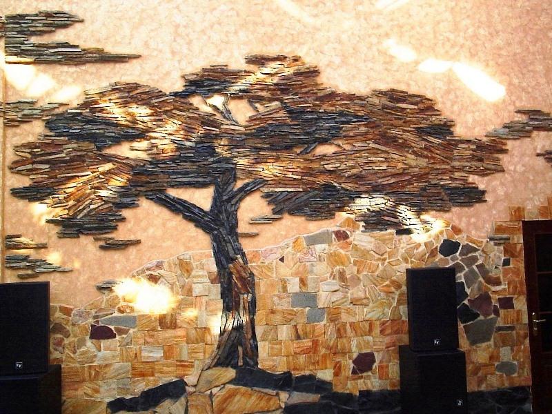 Декоративная стена из камня своими руками