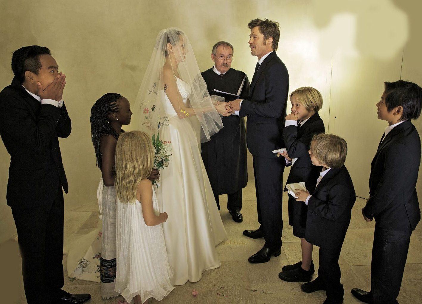 Джоли и питт фото со свадьбы
