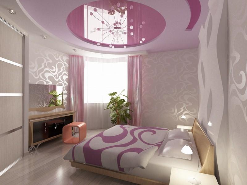 Потолки в спальни дизайн фото