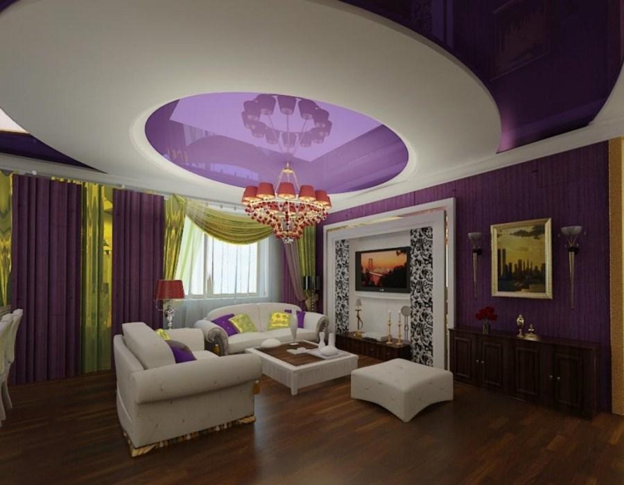 Дизайн с фиолетовым цветом