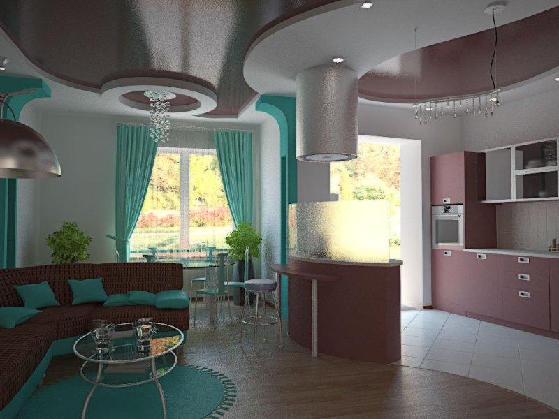 фото кухни с барной стойкой эконом