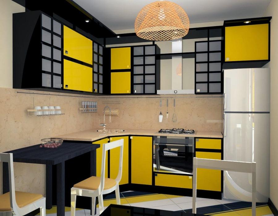 Фото желтой кухни дизайн