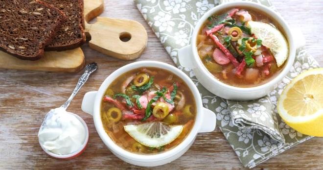 Рецепт супа солянки – классический, вегетарианский и другие варианты вкусного и сытного первого блюда