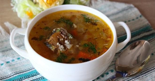 Рыбный суп из консервов – рецепт из горбуши, сайры, скумбрии, сардины, тунца и форели