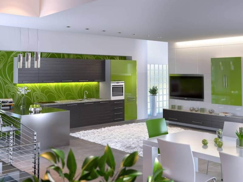 Дизайн спальни зеленый цвет