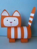 Как сделать котика из бумаги - поделка для детей