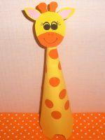 Как сделать жирафа из бумаги - забавная поделка