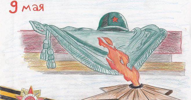 Рисунки к 9 Мая день Победы для детей (поэтапно)