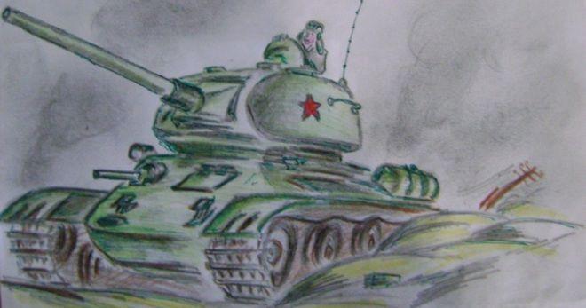 Как нарисовать рисунки о войне 1941-1945 для детей?