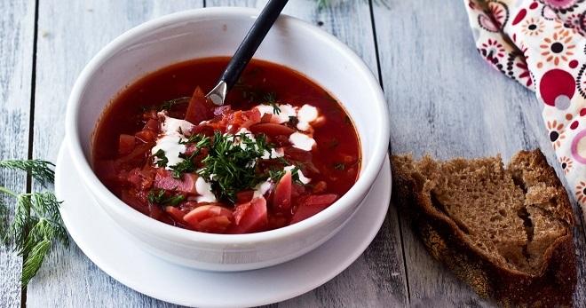 Красный борщ - самые вкусные рецепты сытого блюда на каждый день