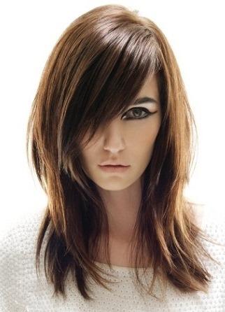 Стрижка средней длины волос