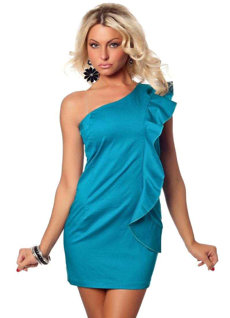 Голубые платья, мода