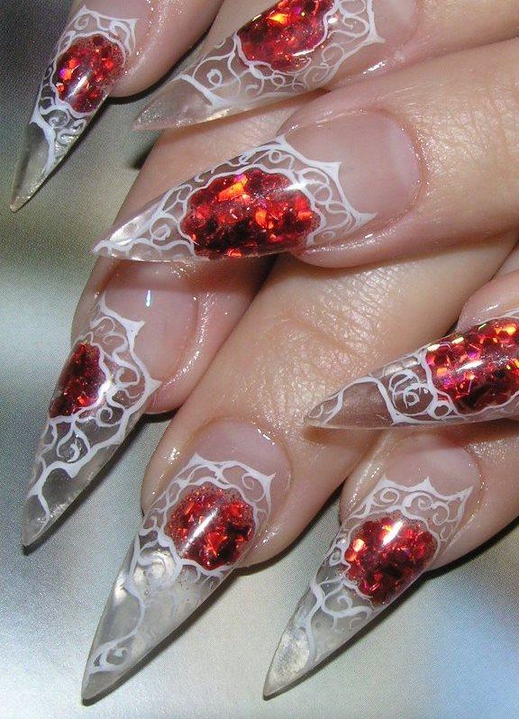 Аквариумный дизайн ногтей только с