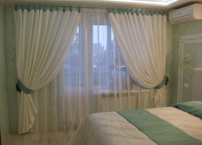 фото дизайн тюли в спальню