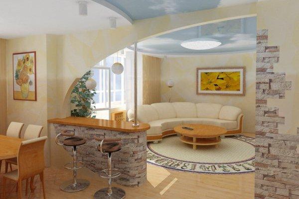 Проходная гостиная в хрущевке дизайн