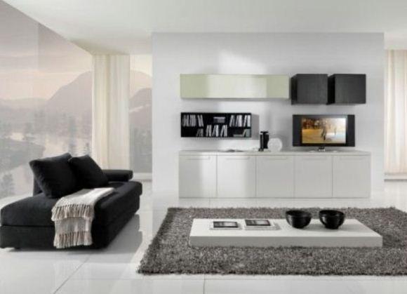 чёрно белая мебель фото