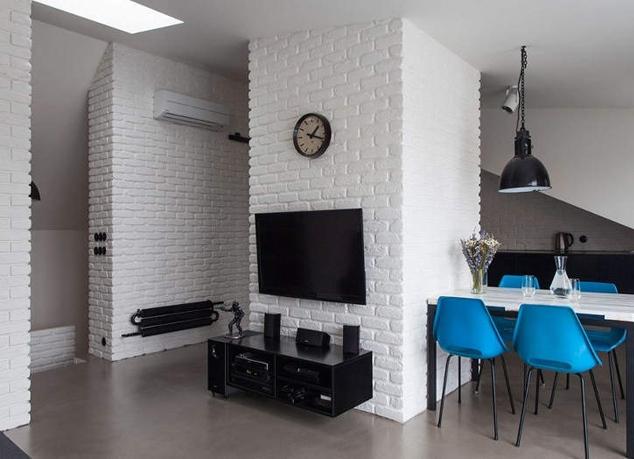 Стены под белый кирпич в интерьере фото