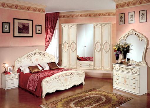 Дизайн декоративной штукатурки в спальне