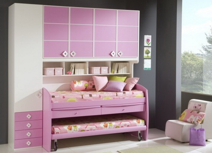 Кровати для двух девочек фото