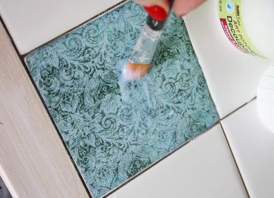 плитки декорированные методом сериографии с рисунком