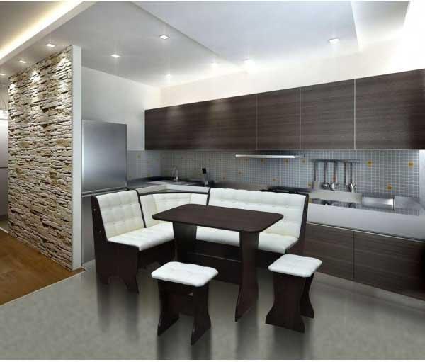 кухни фото дизайн с диваном