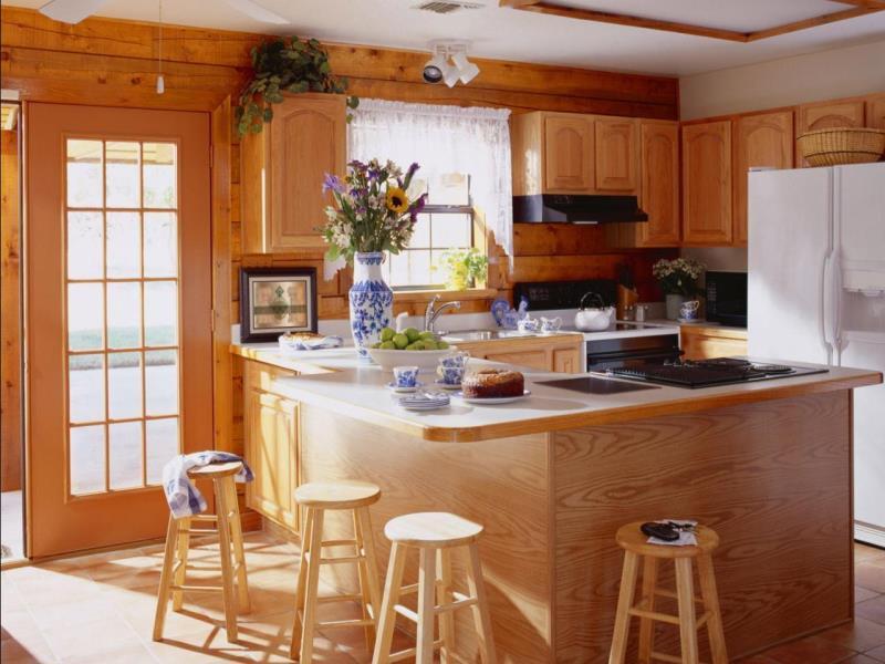 Кухни в деревянный дом дизайн