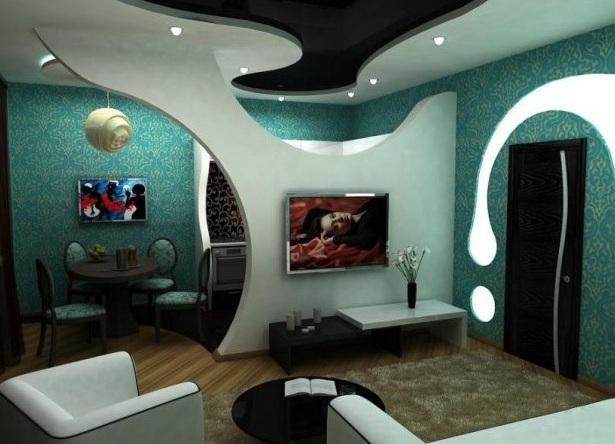 Дизайн из гипсокартона на стенах фото