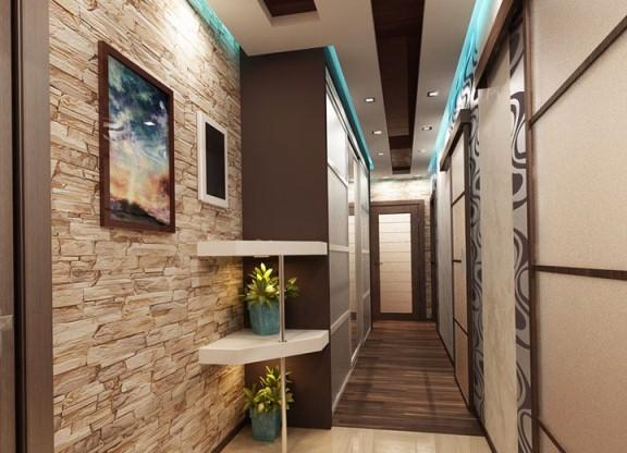 Дизайн длинного и узкого коридора в квартире фото