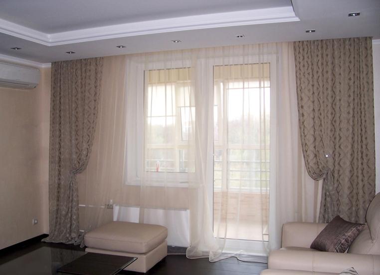 Шторы для светлой гостиной фото