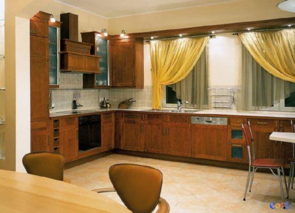 Дизайн гостиной в желтом цвете 101
