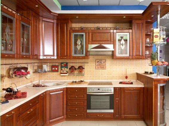 фото угловой кухни с мойкой