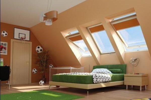 Дизайн маленьких мансардных комнат